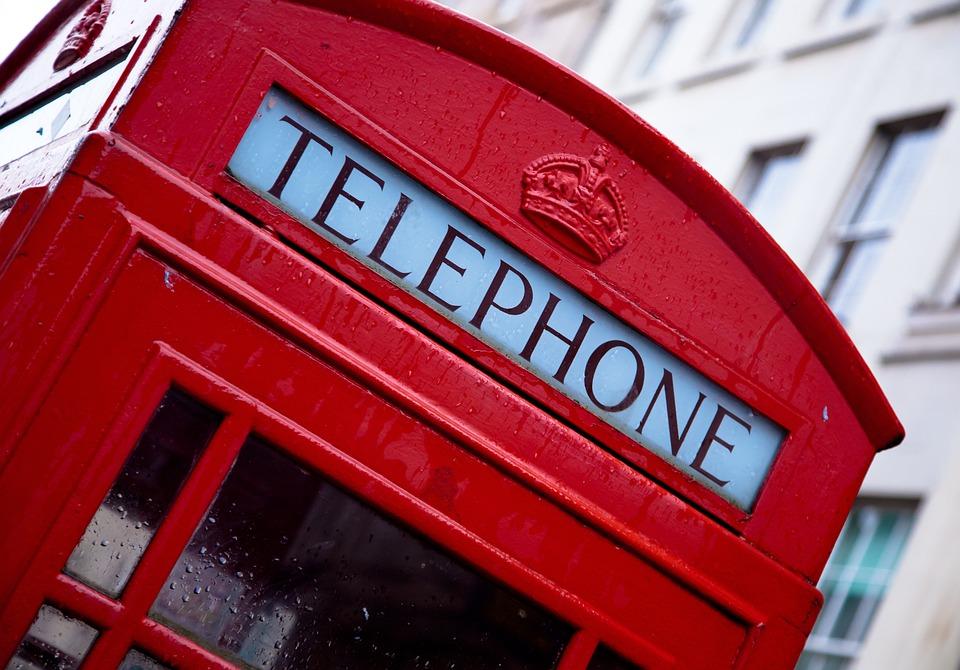 Telefon, Londyn, Czerwony, Anglia, Symbolu, Pole, Ikona