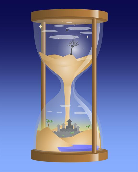 Timeglas, Sand, Surrealistisk, Landskab, Fantasi, Ørken