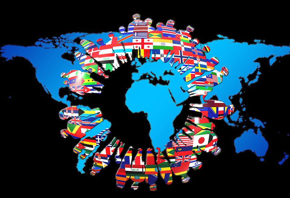 Continents Drapeaux Silhouettes \u00b7 Image gratuite sur Pixabay