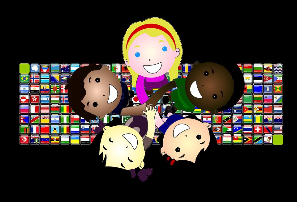 Dzieci, Radość, Uśmiechać Się, Na Całym Świecie, Flagi