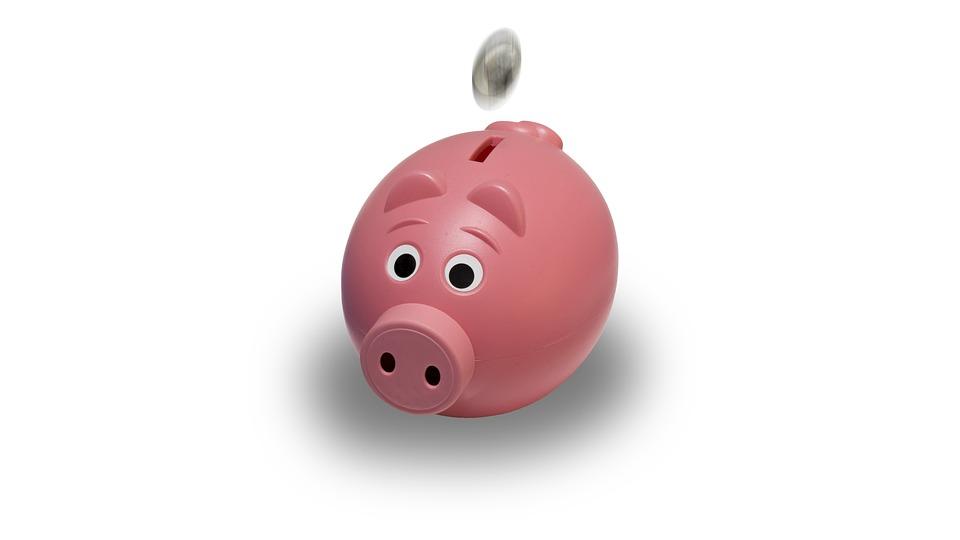 Malacka Bank, Érme, Rózsaszín, Piggy, Bank, Pénzügy
