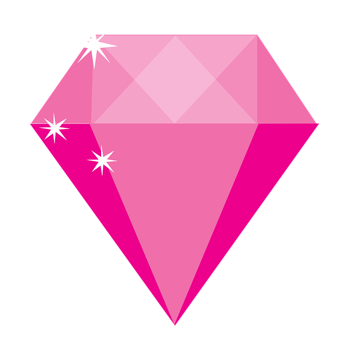 Free illustration: Pink Diamond, Gem, Jewel - Free Image on Pixabay ... | 720 x 720 png 58kB
