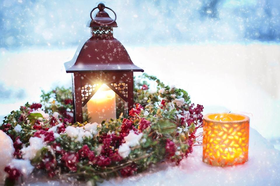 Snowy Still-Life, Winter, Christmas, Decoration, Snowy