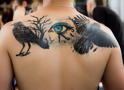 Color tattoo animal