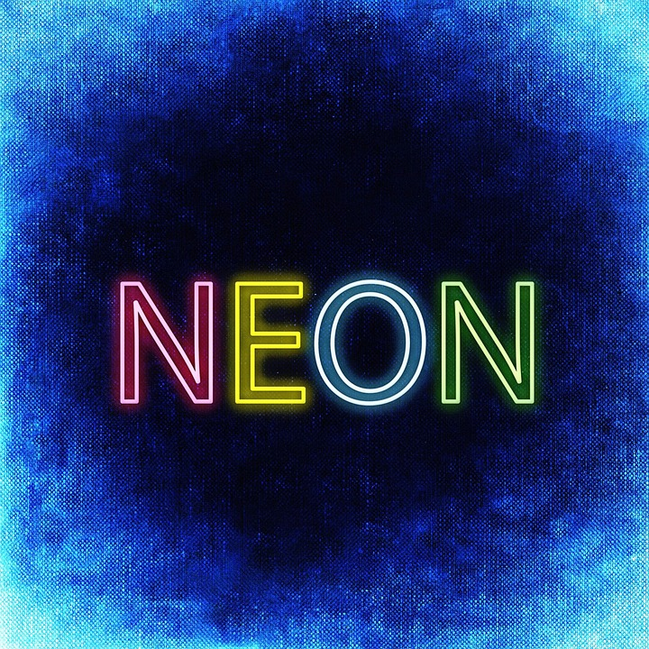 Free Illustration: Neon, Font, Lettering, Colorful