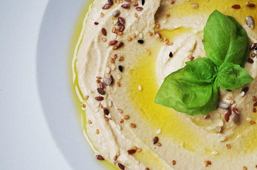 Hummus Meal Chickpeas Paste Seeds Grains C