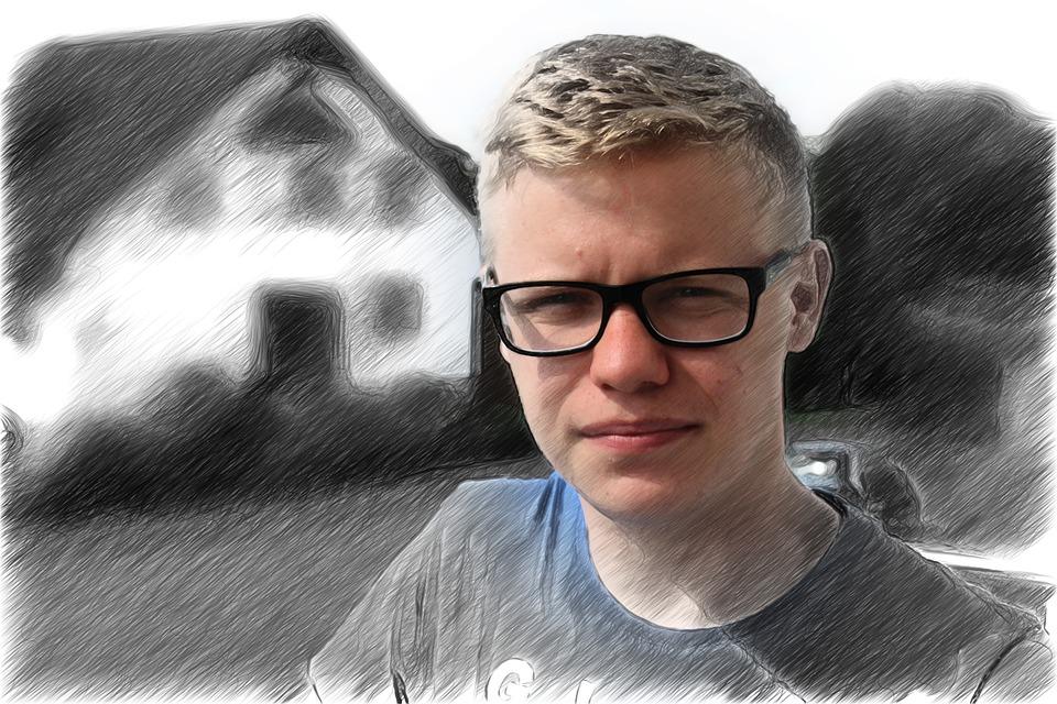 e3a0117b222 man boy glasses person sporty face human view