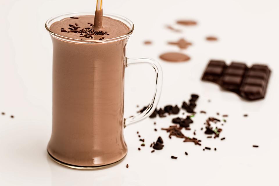 Chocolate Smoothie, Milkshake, Refreshing, Drink