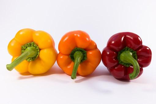 Paprika, Yellow, Orange, Red, Vegetables