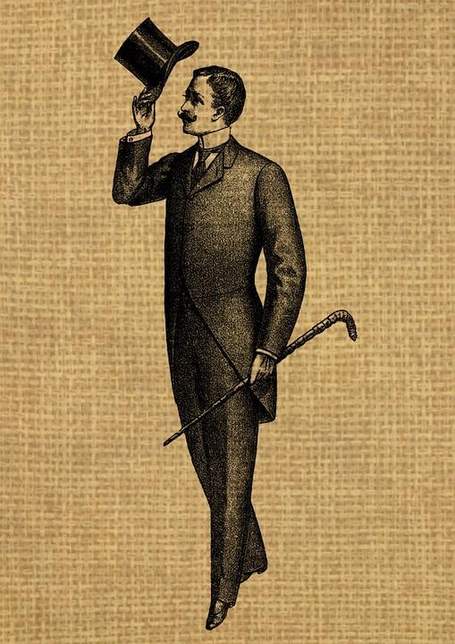 a88f9ea2656 vintage man gentleman hat suit cane walking stick