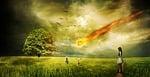 meteorite, impact, comet