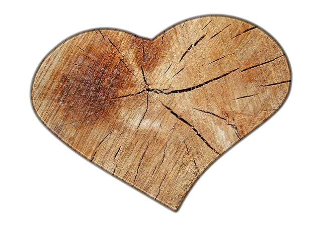 Free illustration heart love wood grain structure
