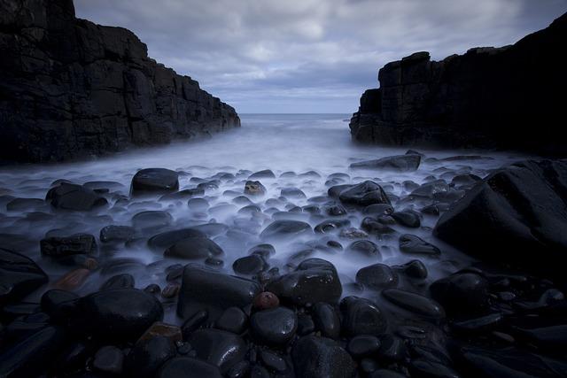 Rocks on Black Beach Pebble Rock