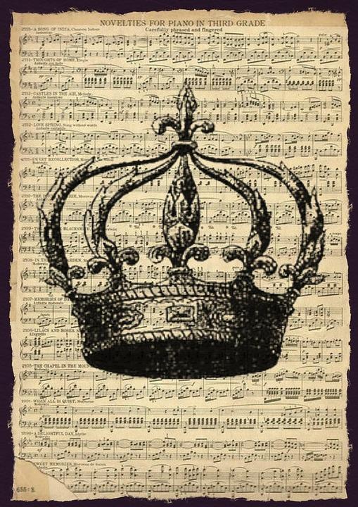 Extrêmement Illustration gratuite: Vintage, Musique, Feuille, Couronne - Image  UF32