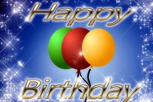 Background, Balloons, Star, Birthday