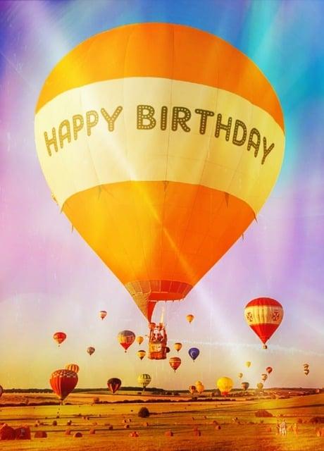 Gratis Illustratie Hete Luchtballon Ballon Wenskaart
