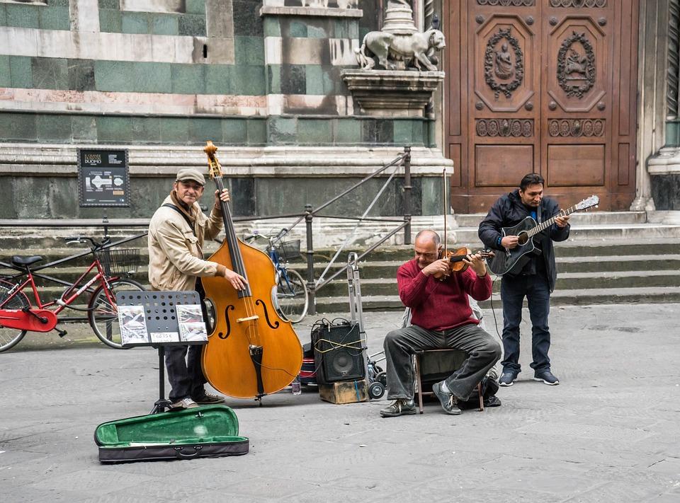Straßenmusikanten, Straßenmusik, Italien, Florenz