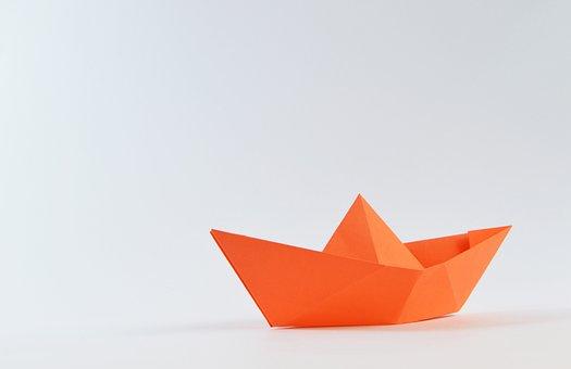 Origami, Paper, Sailing, Sailboat, Boat