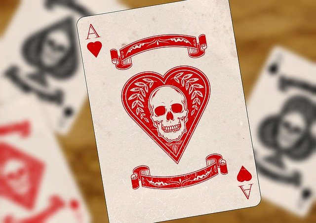free photo playing cards ace heart cross free image
