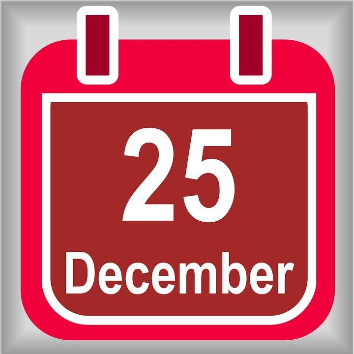 december 25 calendar christmas day december 25