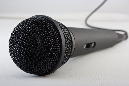 マイク, 音楽, 歌う, サウンド, 楽器, 機器, スタジオ, メディア
