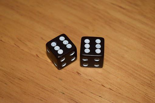 Dice, Six, Double, Roll, Gamble, Game