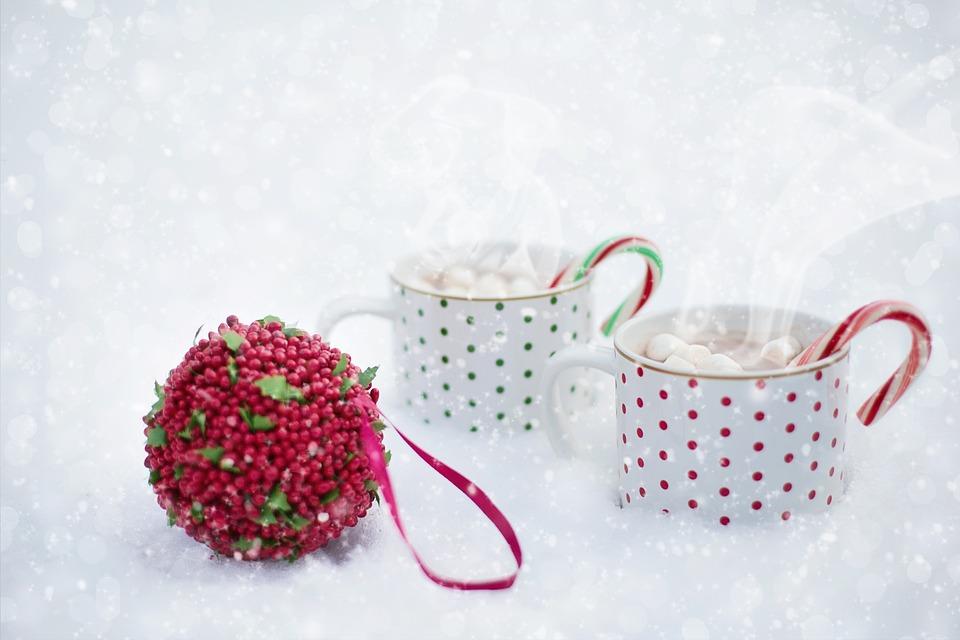 Hot Chocolate, Snow, Scarf, Christmas
