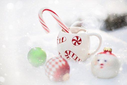 ช็อคโกแลตร้อน, หิมะ, คริสมาสต์, ร้อน