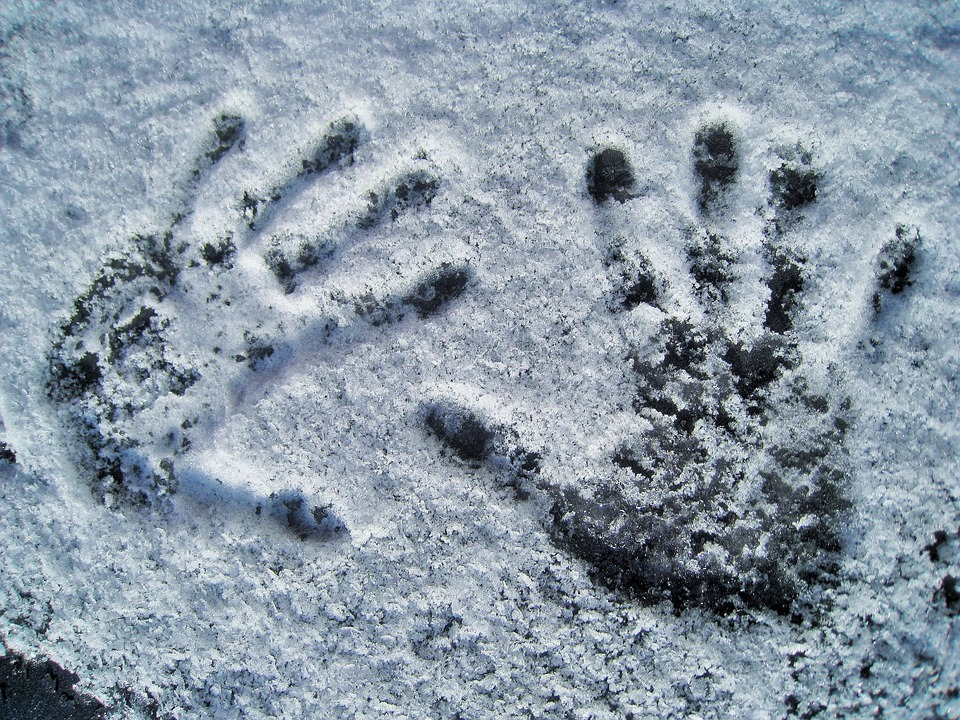 Handprint In Snow - Free photo on Pixabay