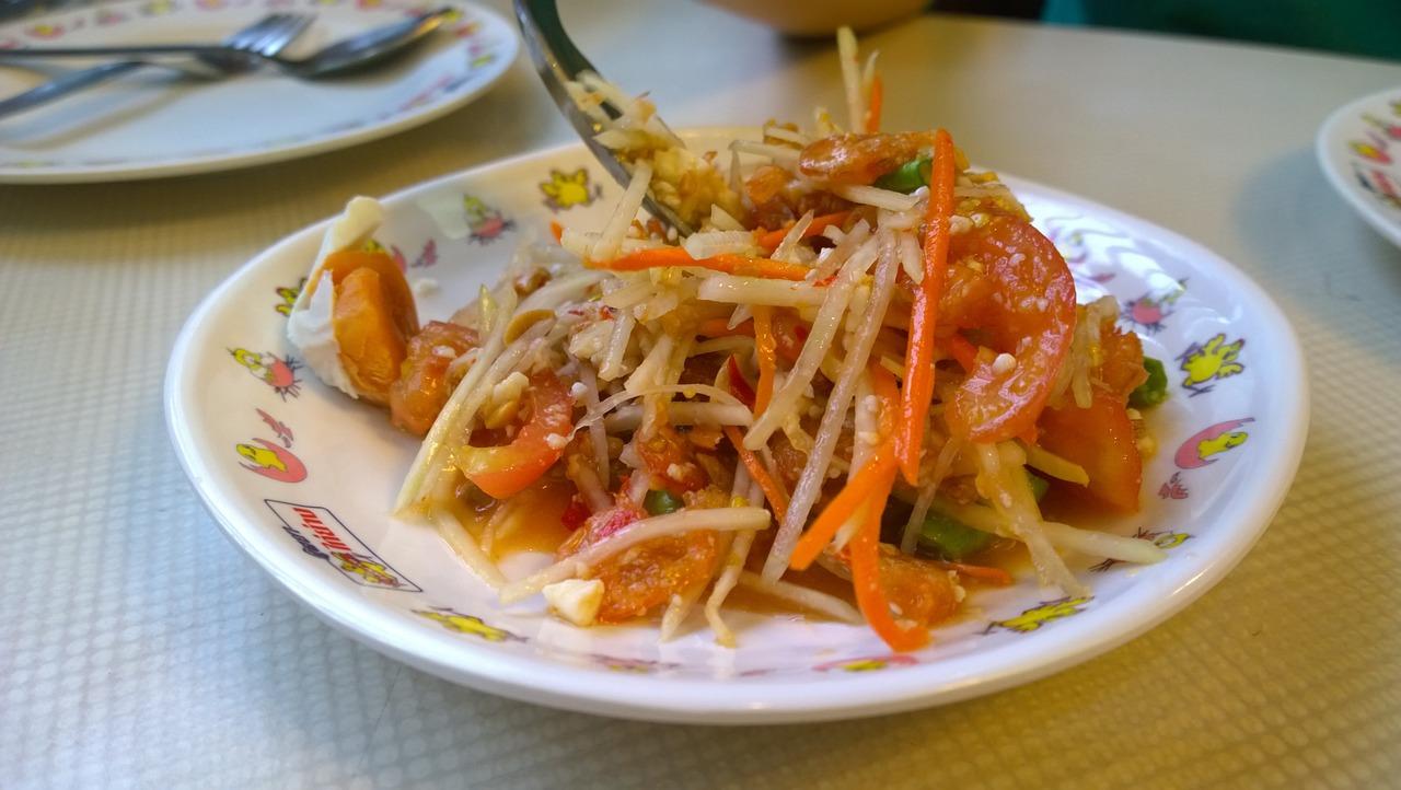 Green Papaya Salad Thai Food Som - ภาพฟรีบน Pixabay