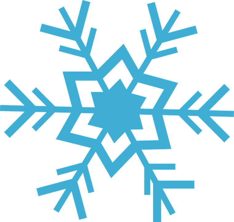 Populaire Image vectorielle gratuite: Flocon, Neige, Bleu, Glace, Hiver  WL64