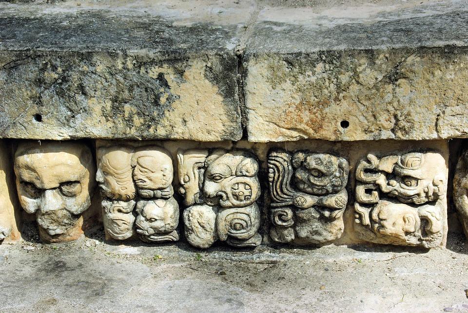 Gwatemala, Coban, Maya, Glyph, Pisanie, Ruiny