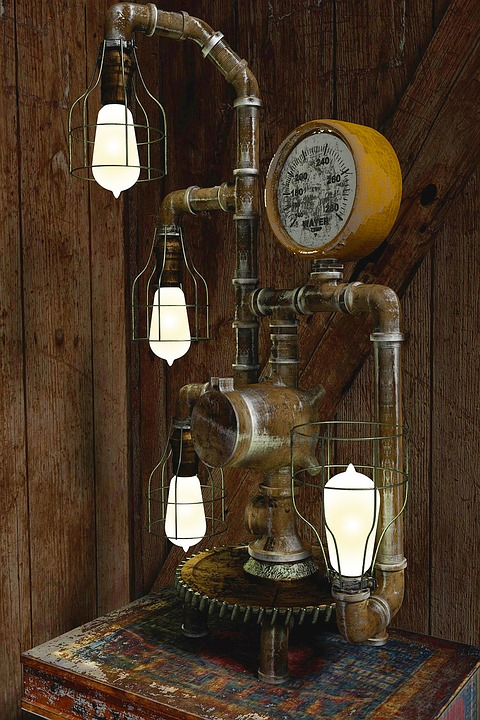 Free Photo Steampunk Lamp Lamp Vintage