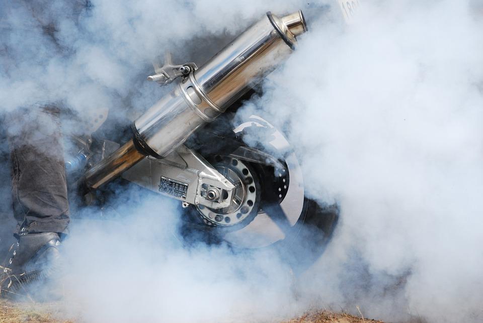 Burnout, Palenie Gumy, Motocykl, Wydech, Motoryzacja