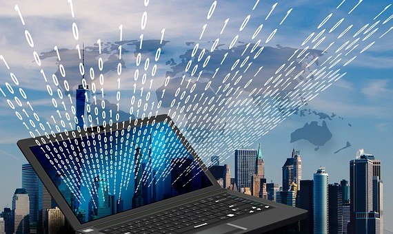 New York Skyline Laptop Monitor Binar