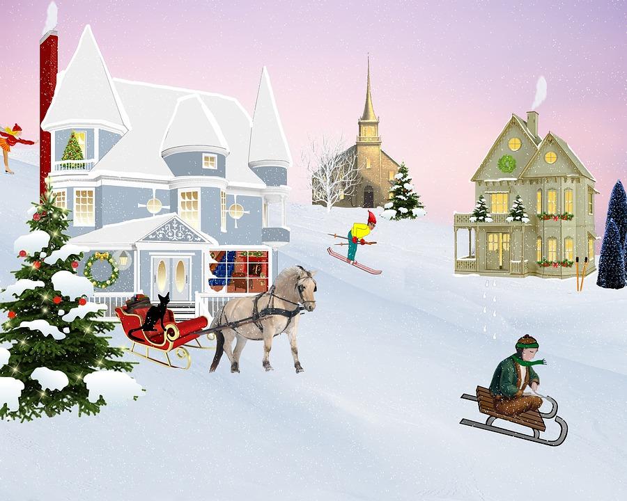 Szene Weihnachten Dorf · Kostenloses Bild auf Pixabay