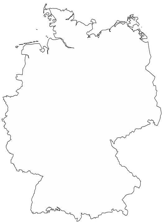 Germany Map Free Pictures On Pixabay - Germany map drawing