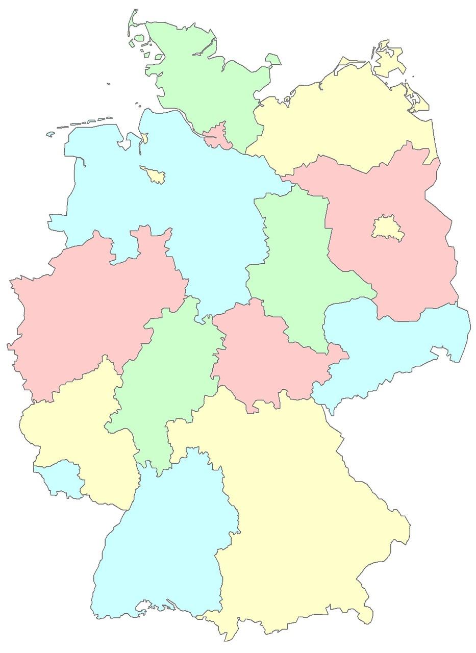 Saksa Osavaltiot Alueet Ilmainen Kuva Pixabayssa