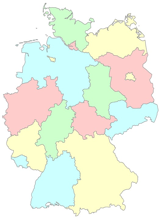 Map Of Germany With Regions.Germany Lander Regions Free Image On Pixabay