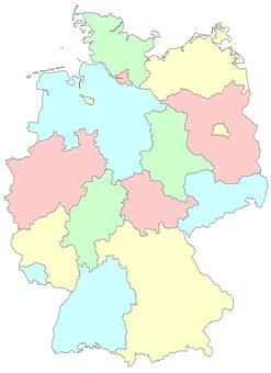 germany lnder regions germany germany map