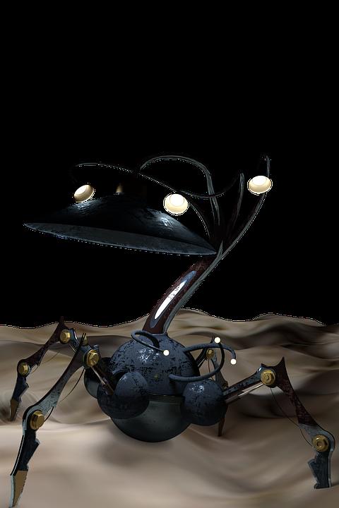 Alien Lamp Steampunk Light Metal Electricity