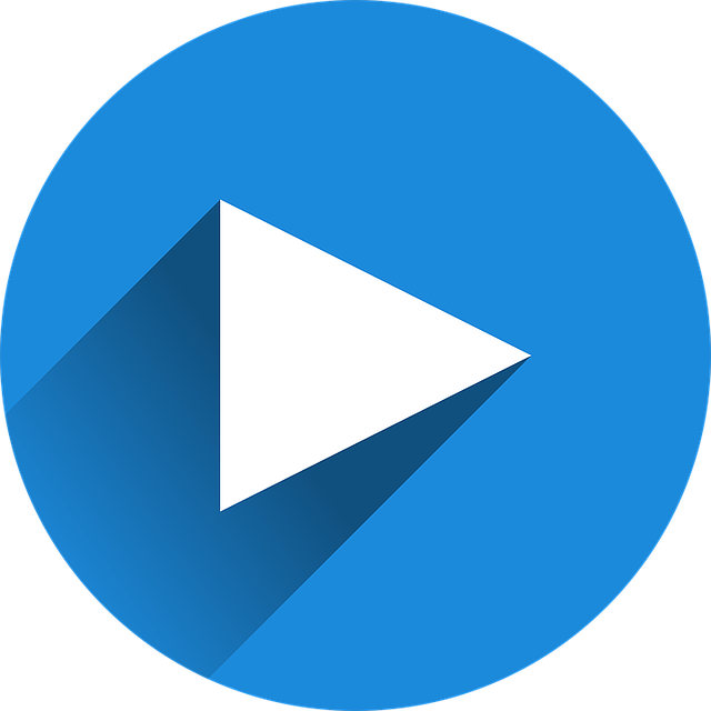Vimeo play button blue