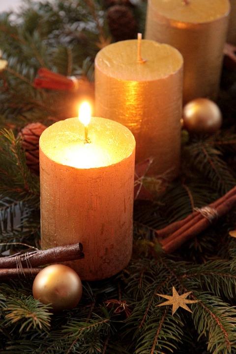 Ljus, Advent Krans, Advent Arrangemang, Advent