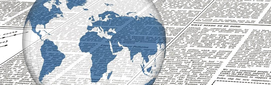 Noticias, Periódico, Globo, Lectura