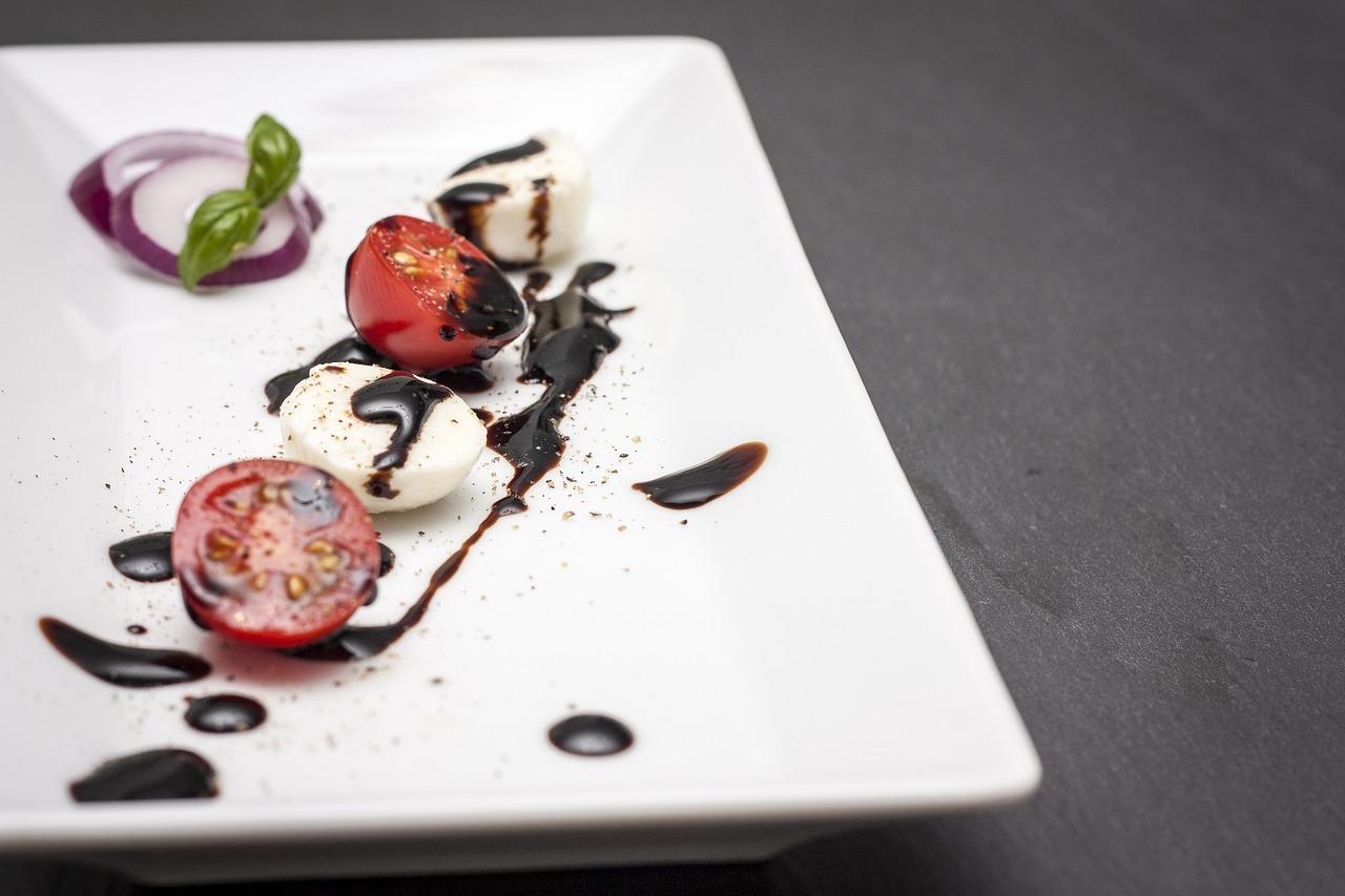 番茄,马苏里拉,罗勒,吃,健康,新鲜,食品,番茄奶酪,美味,首次置业,红色,cocktailtomaten,香醋,小吃,洋葱