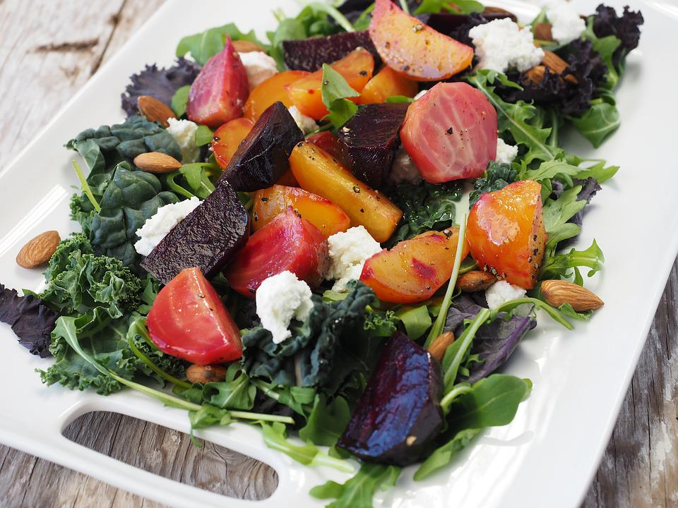 食品, サラダ, ビート, 健康, ダイエット, 緑, 健康食品, 新鮮な, 野菜, 健康食, 健康を食べます