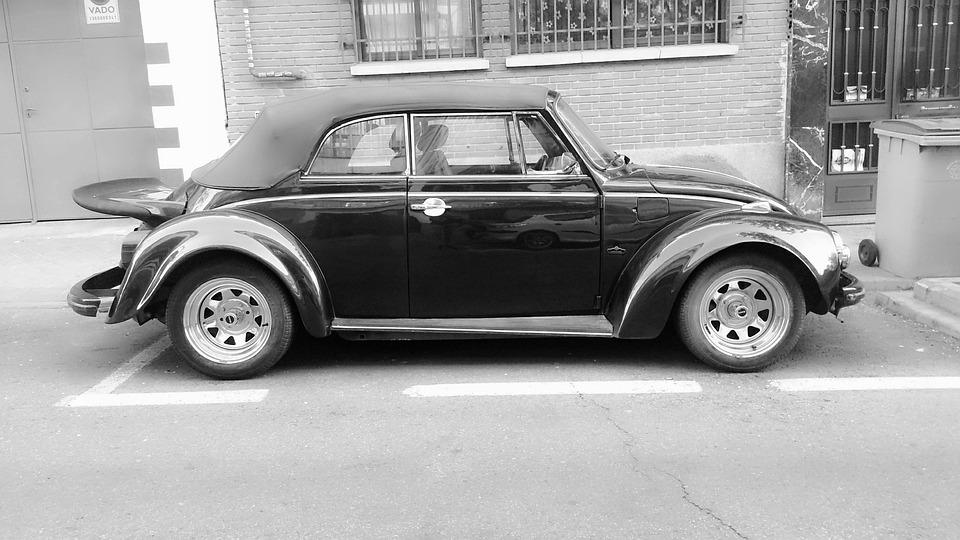 Car Vintage Black And White