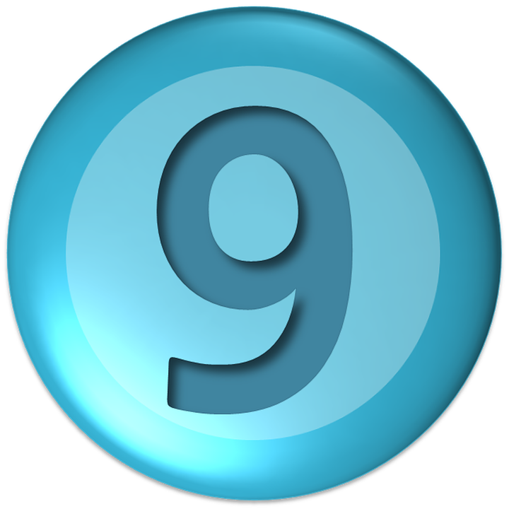 Numbers Nine Ball District Shapes Round Icon