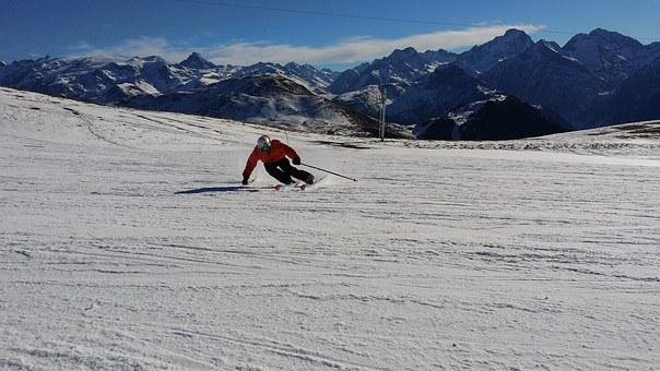 Ski Skiing Mountains Ski Resort Skier Wint