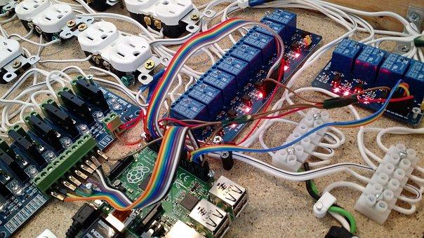 Eletrônica, placa de circuito, tecnologia